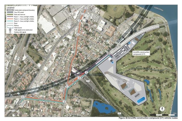 Compound vehicle routes—Arncliffe compound (Appendix G, p. 153)