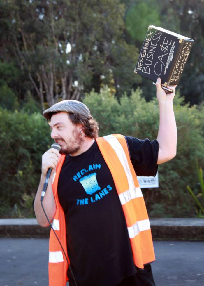 One of the best loved and known people around St Peters and a key organiser of Reclaim the Streets helped organise the history march