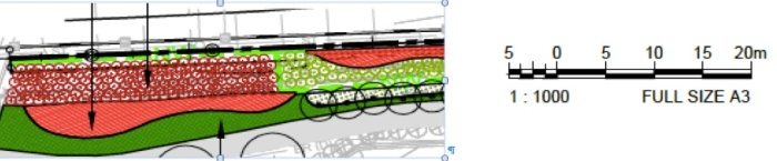 Fig 3 - Landscaping Plan as noise walls were supposed to be